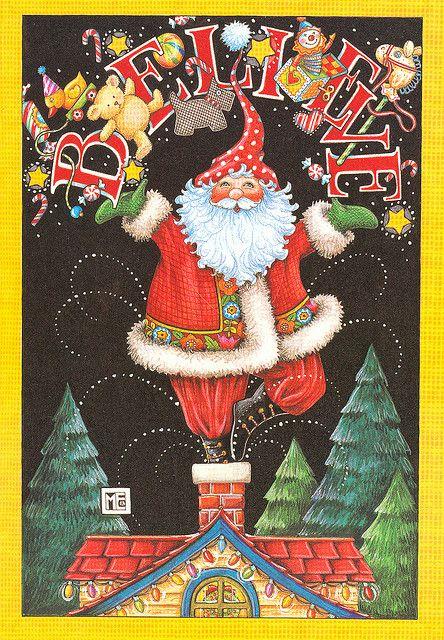 Mary Engelbreit Santa Christmas Card | Flickr - Photo Sharing!