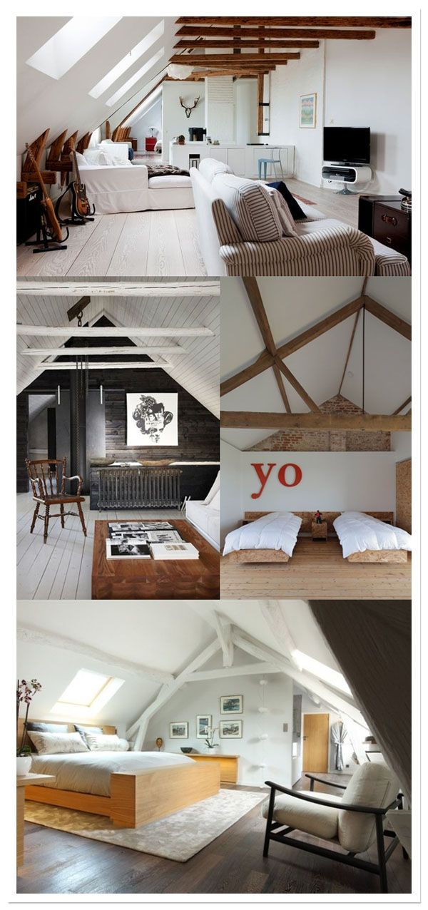 36 best images about chambre mansard e on pinterest for Amenagement chambre mansardee