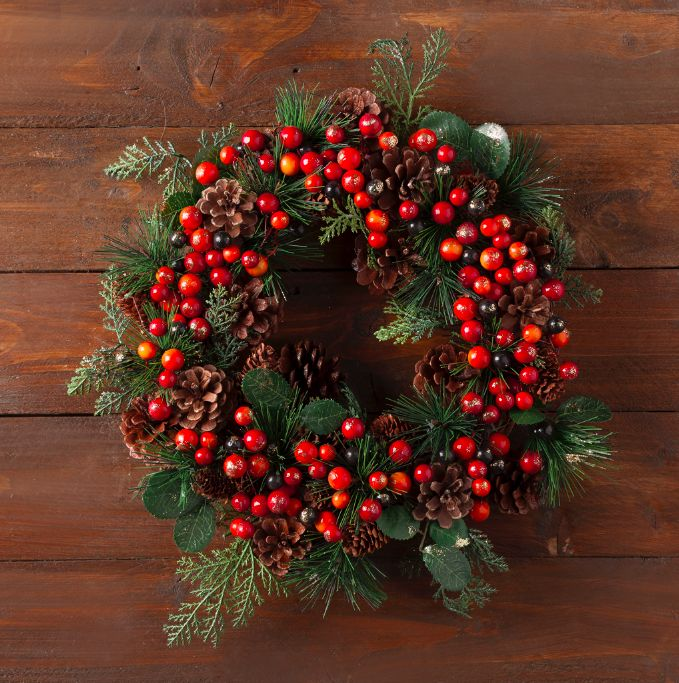 The festive berry wreath - Tesco