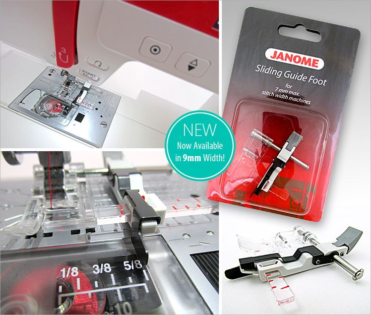 Accessories We Love: The Janome Sliding Guide Foot - Now Available in 9mm Width!   Sew4Home