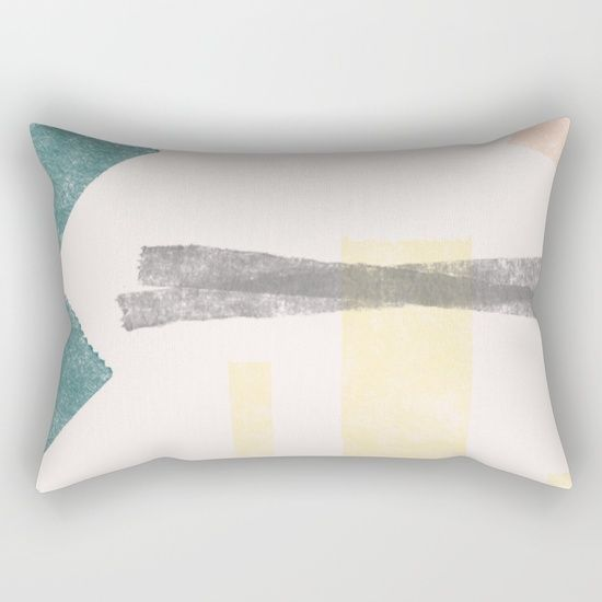 Color Geometry Rectangular Pillow