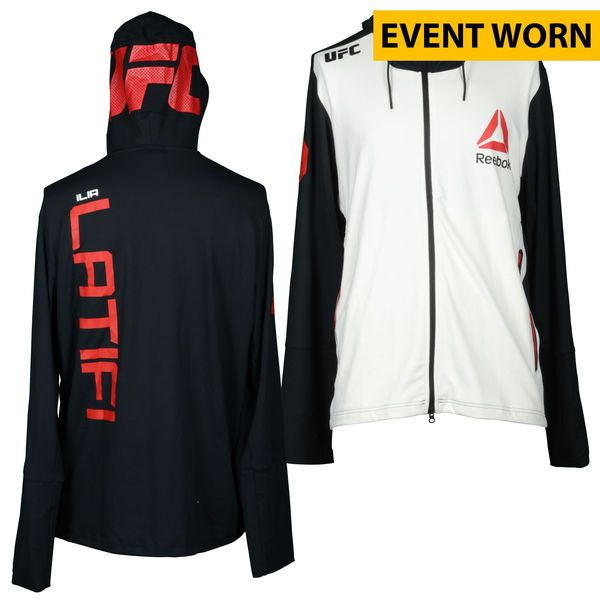 Ilir Latifi Ultimate Fighting Championship UFC Fight Night Bisping vs. Leites Event-Worn Walkout Hoodie - Defeated Hans Stringer via First Round Knockout - $299.99