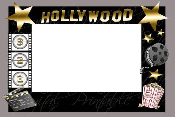 Selfie Photo Booth Frame Printable Photo Prop Movie Frame Theater Hollywood Themed 36 X24 48 X 36 En 2020 Marco De Fotomaton Fotos De Cumpleanos Fotomaton