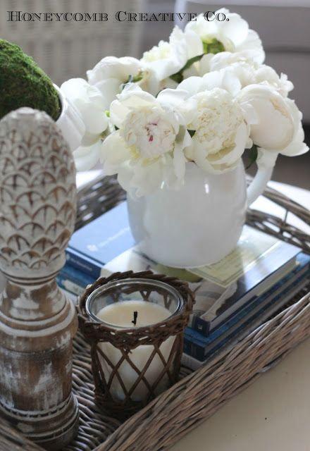 Coffee table decor Tour House- Clean Cottage Decor