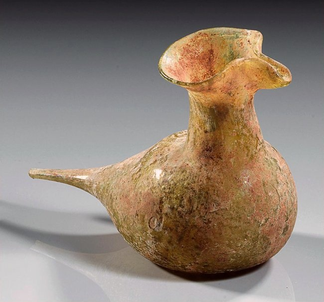 Roman Glasss Baby Feeder, Bird Form