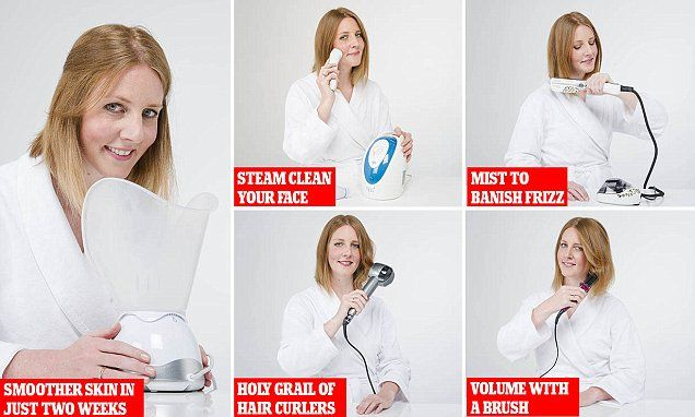 Victoria Joy tests L'Oreal's Steampod, Remington's Steam Styler and a BaByliss curler | Daily Mail Online
