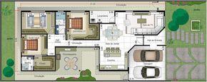 Planta de casa com suite e closet. Planta para terreno 12x30 #Plantasdeinterior
