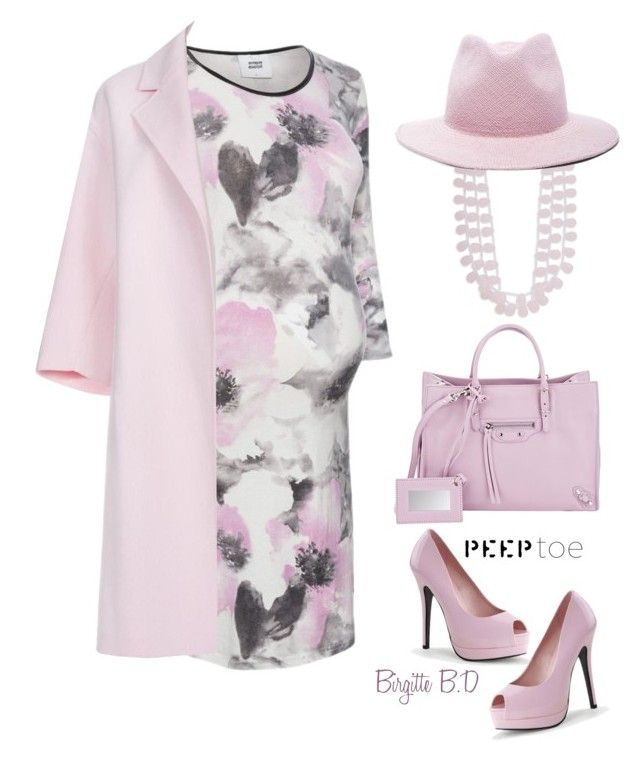 """Peep Toe Pumps for Me"" by birgitte-b-d ❤ liked on Polyvore featuring Mama.licious, Paul Smith, Kenneth Jay Lane, Balenciaga, Ryan Roche, Bordello, outfit, peeptoe, fashionset and Contesthttp"