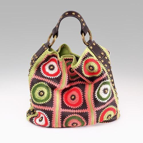 Beautiful Crochet Bag ~ Inspiration only, no pattern.