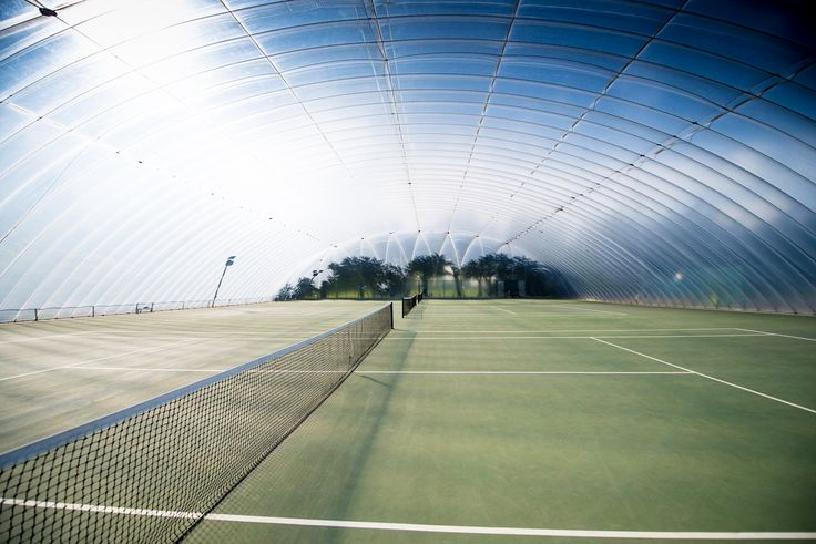 Photography of 'The Bubble' at Nottingham Tennis Centre for Peel Electrical