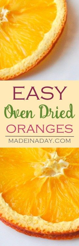Oven Dried Orange & Lemon Slices,  Learn to oven dry oranges, lemons and other citrus fruit to use in crafts and food recipes.  via…