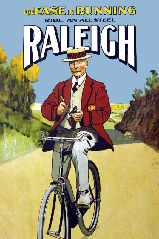 Vintage Bicycle POSTER.Raleigh.Room Art Decoration.Bedroom Interior Design.799