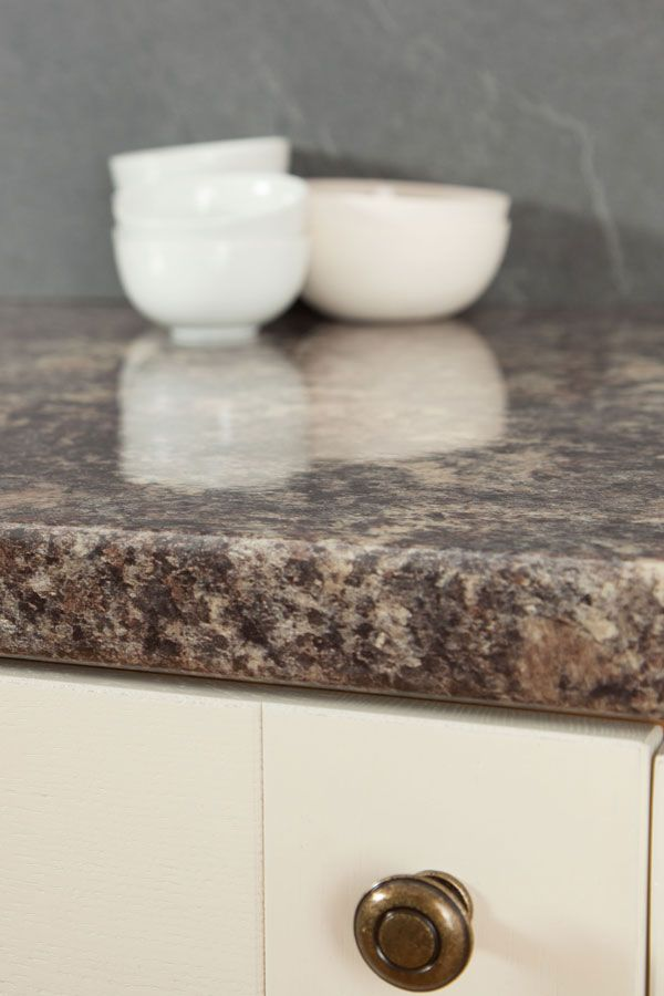 This Caribbean Stone Laminate Worktop Also Known As A Jamocha Worktop Has A 3mm Profile Edge For A Wonderful Finishi Stone Laminate Laminate Worktop Laminate
