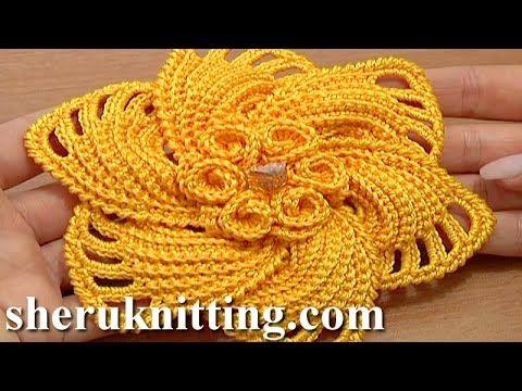 #Crochet 6-Petal Flower Spirals In Center Tutorial 59 Part 1 of 2