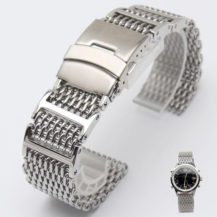 $22.35 (Buy here: https://alitems.com/g/1e8d114494ebda23ff8b16525dc3e8/?i=5&ulp=https%3A%2F%2Fwww.aliexpress.com%2Fitem%2F2016-NEW-arrival-22mm-Silver-Mens-high-quality-stainless-steel-SHARK-mesh-bracelet-Diving-Replacement-Watchband%2F32777782990.html )