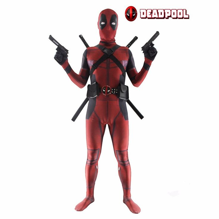 Deadpool Costume Unisex Lycra Spandex Zentai 3D Printed Bodysuit Halloween Funny Adult/Kids Supplies with Clothing