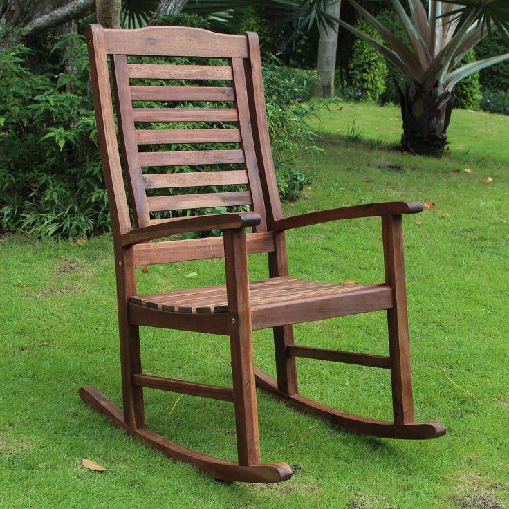 International Caravan Acacia Palmdale Contemporary Outdoor Rocking Chair