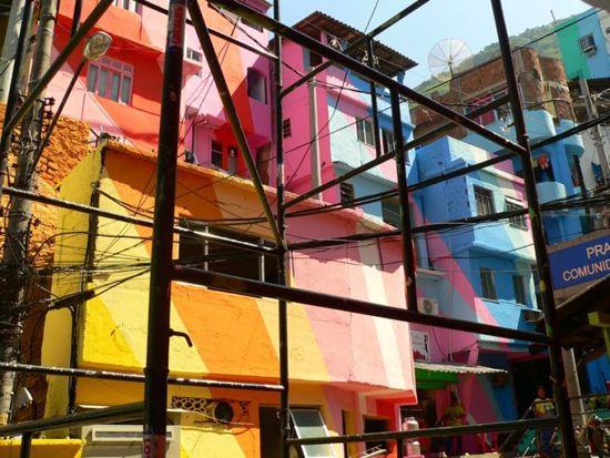 Favela Painting - Santa Marta - Work in progress