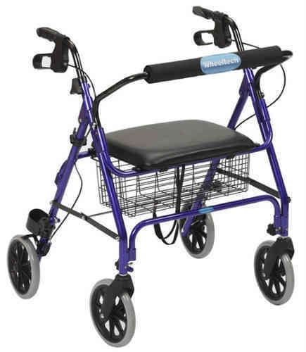 Andador XXL 4 Ruedas  | Color Azul | Andadores para Adultos
