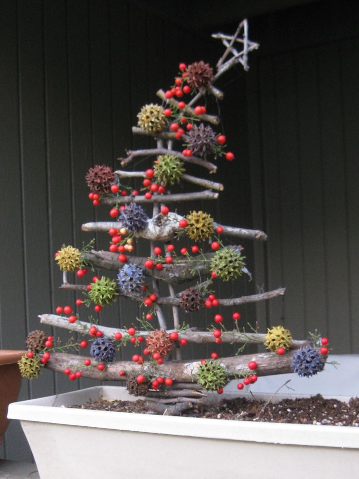 Christmas twigs ~ gonna have to create a new board dedicated to these rustic creations