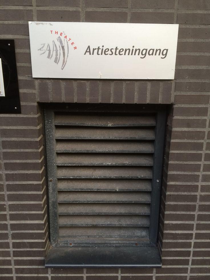 Artist entrance :-)