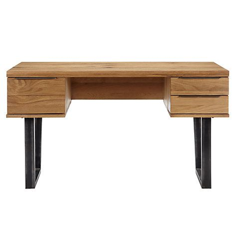 John Lewis Calia Desk - modern and with draws!  Now...if only it ad some kind of cable management....