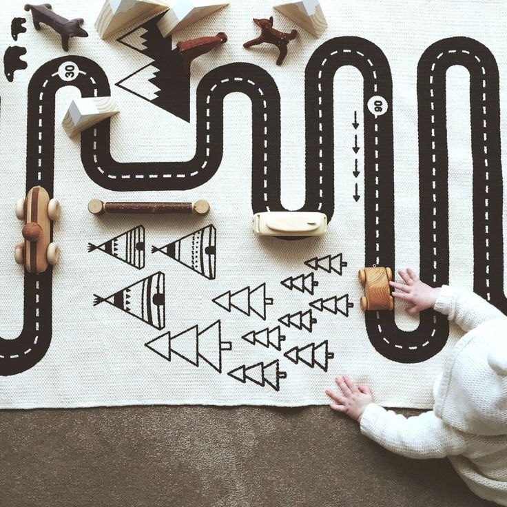 In Stock! The Adventure Rug Play Mat by OYOY of Denmark is the perfect neutral Scandinavian design for both boys and girls