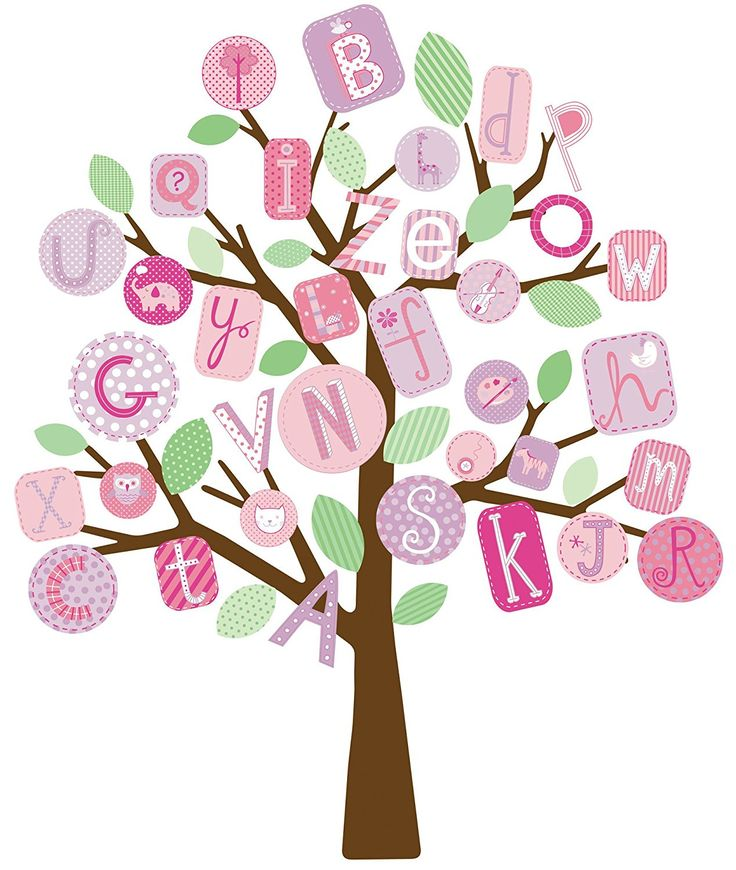 RoomMates RMK2026SLM ABC Pink Tree Peel and Stick Giant Wall Decals * Check out this great image  (This is an amazon affiliate link. I may earn commission from it)