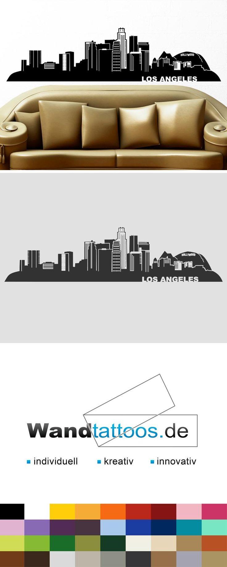 Wandtattoo Los Angeles Skyline als Idee zur individuellen Wandgestaltung. Einfach Lieblingsfarbe und Größe auswählen. Weitere kreative Anregungen von Wandtattoos.de hier entdecken!