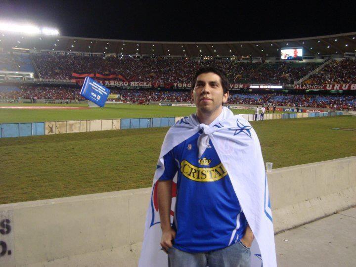 En el Maracana, cuartas de final Libertadores 2010. Flamengo 2 x 3 Universidad de Chile.