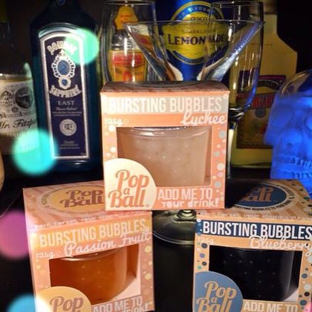 PopaBall's bursting flavoured bubbles, perfect to add to prosecco, gin, cocktails, milkshakes or ice cream Available from Treasured www.facebook.com/treasured home