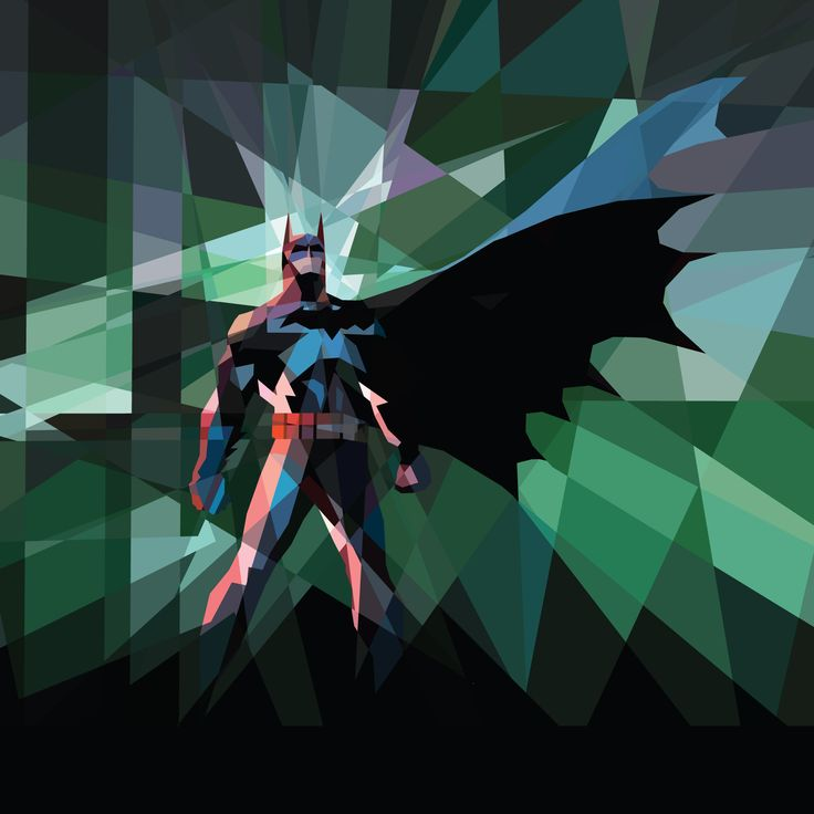 Fondo de pantalla de Batman, por Kate Jones. No meu iPad Mini.