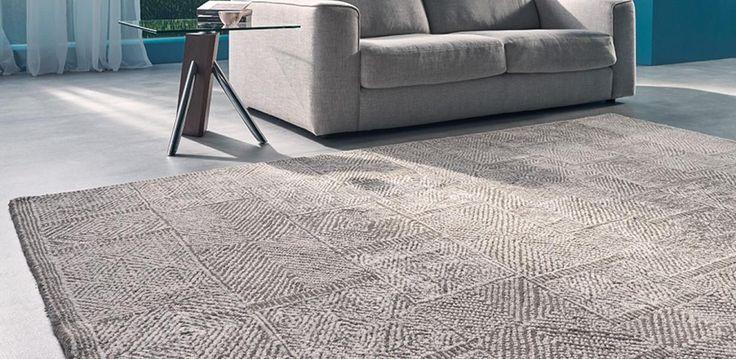 100% wool hand-woven floor rug