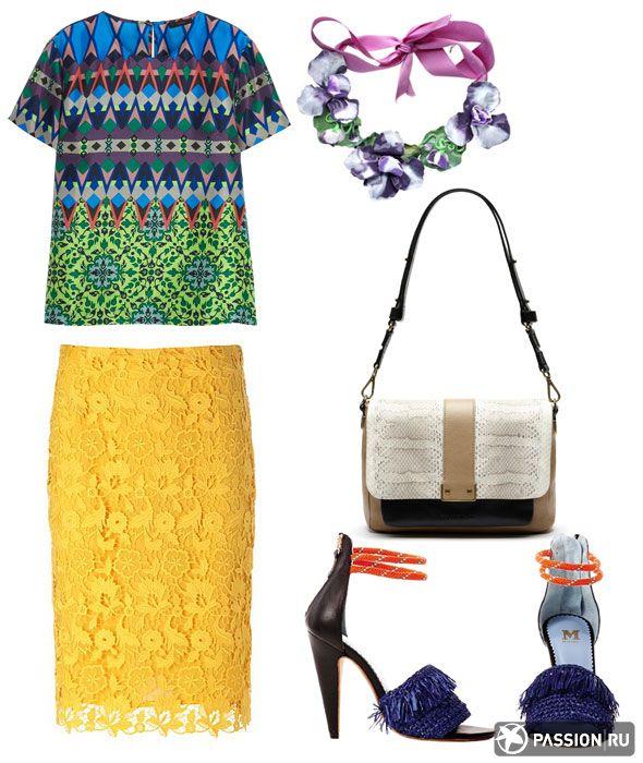 Блузка J.Crew, юбка Escada, ожерелье Magia di Gamma, сумка Gerard Darel, обувь M Missoni
