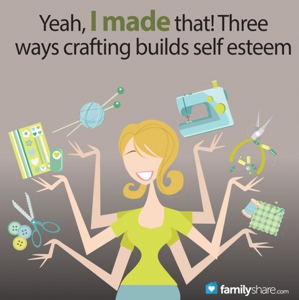 A great article about a mom who used creativity and crafting to develop self-esteem.  Yeah, I made that! Three ways crafting builds self esteem