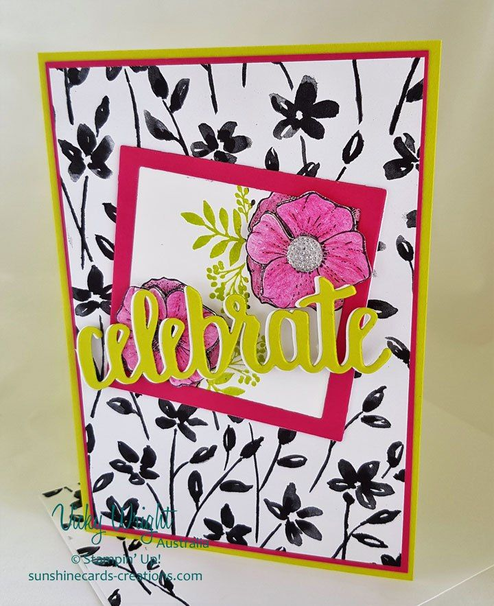 2018 Occasions, 2018 SAB, Amazing You Stamp Set, Petal Passion DSP, Celebrate You Thinlits, Free Tutorial, Stampin' Up!