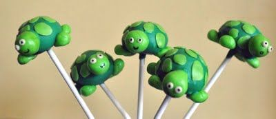 May very well try making these for the shower... except I'll probably do them upside down, where the turtle is the stand for the stick