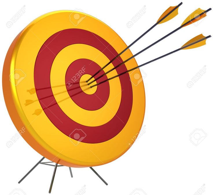 Business Target Success Shooting Concept. Accuracy Archery Arrows ...