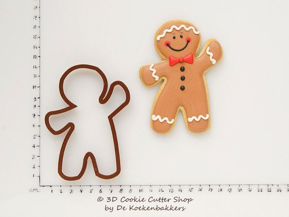 Gingerbread Man Cookie Cutter Budget version by 3DCookieCutterShop