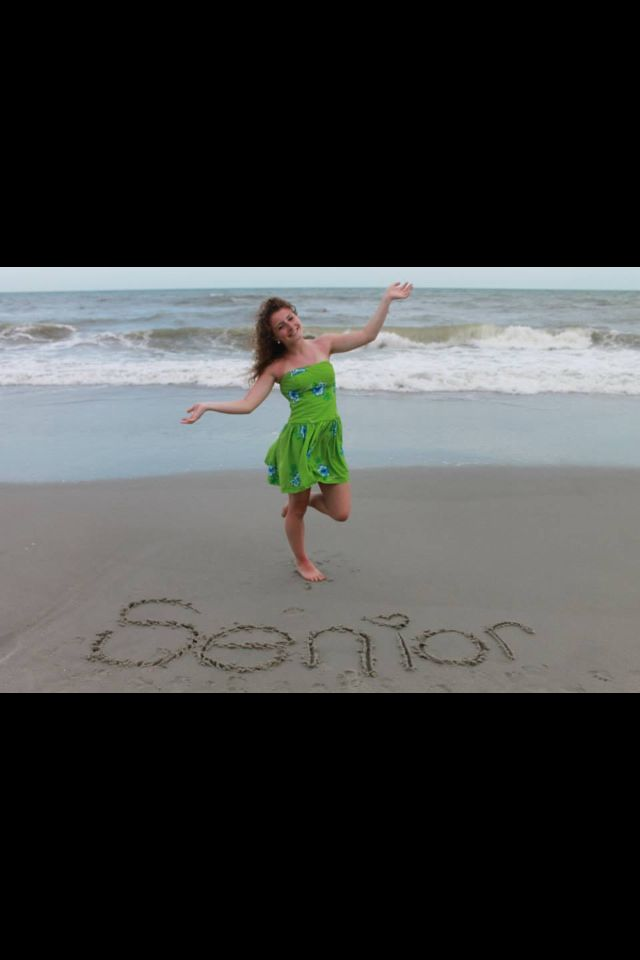 Senior picture at the beach