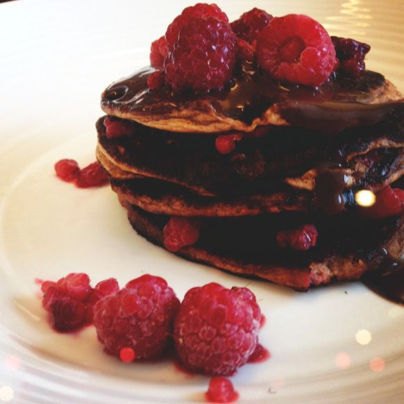 Chocolate Protein Pancakes | The Fit Foodie