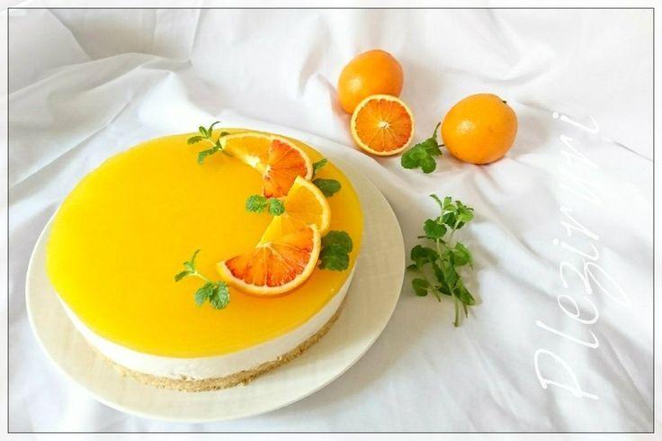 Cheesecake italian cu ricotta si portocale, fara coacere