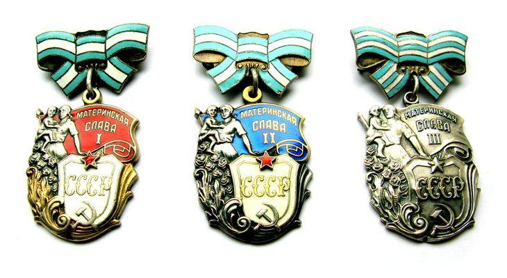 Order of Maternal Glory 1st / 2nd / 3rd class