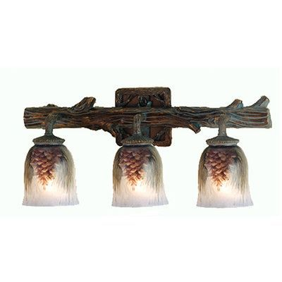 You'll love the  Northwoods Pinecone Hand Painted Vanity Light in Golden Pine at Wayfair - Great Deals on all  products with Free Shipping on most stuff, even the big stuff.