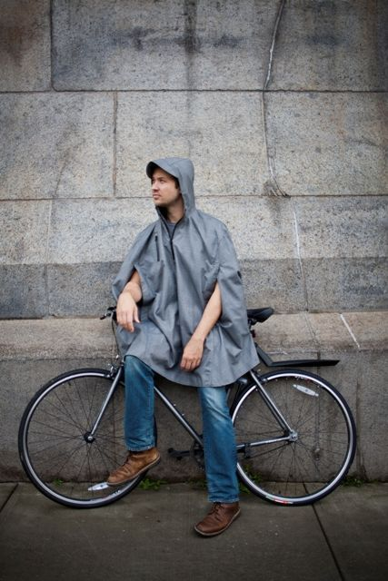 These Cleverhood Rain Capes Marry Form with Function #bicycles trendhunter.com