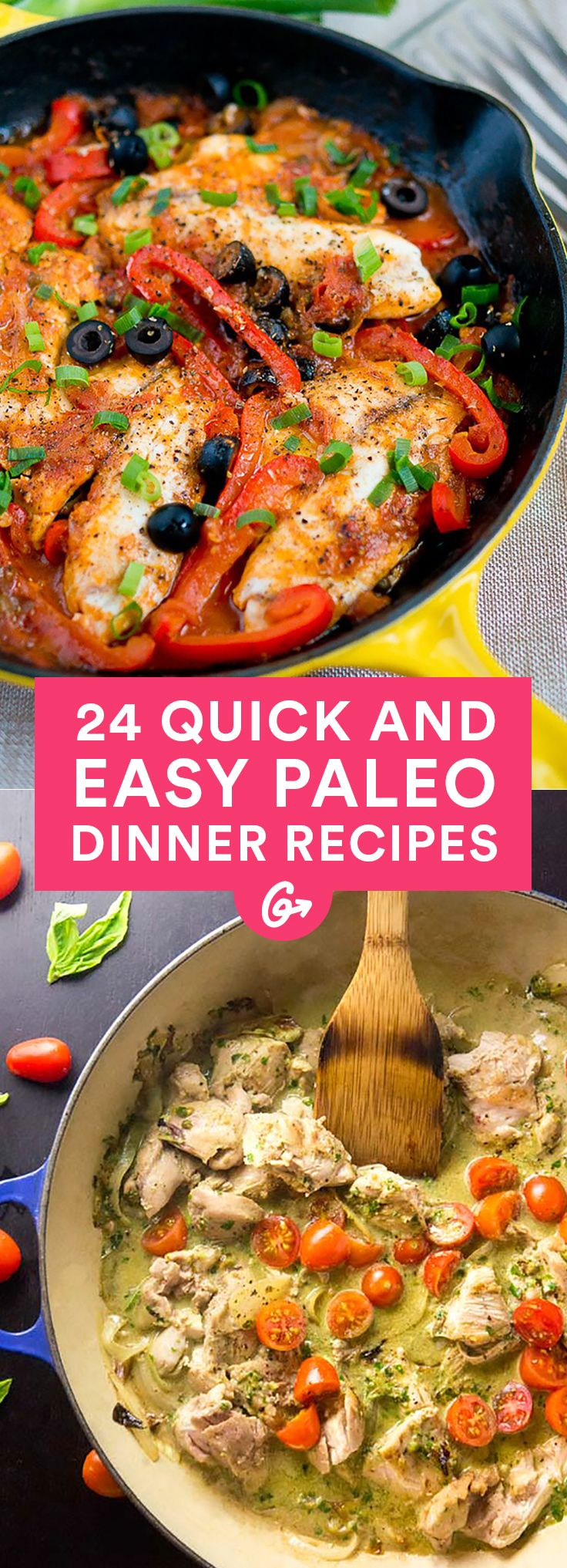 Whatever diet you're following, these simple recipes will have your mouth watering. #paleo #dinner #recipes http://greatist.com/eat/paleo-recipes-easy-and-delicious-dinners