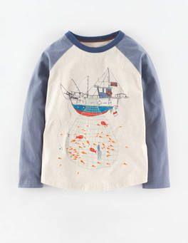 Catch of the Day T-shirt (Oatmeal Marl/Fishing Trawler)