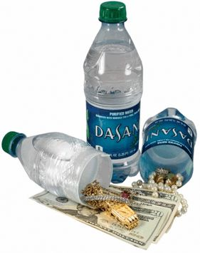 Do You Need To Hide Money Or Jewelry In Your Home, But Don't Know Where?  A realistic Dasani Bottle Diversion Safe is perfect for hiding jewelry, money or any other kind of small valuables in your home because it has a hidden compartment to store them in and other people will never know, even if the bottle is in plain site!