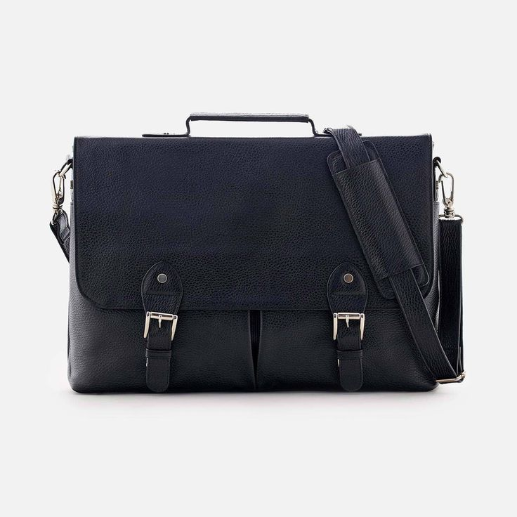 *SECONDS* Dalton Satchel - Full grain Leather - Black