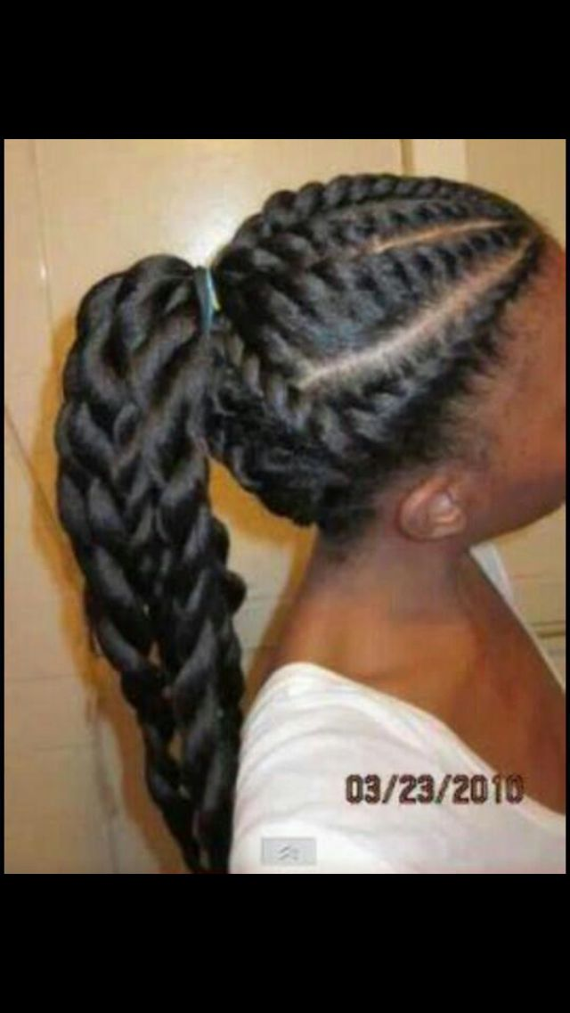 Graceful Hair Makeover African Ponytail Cornrow